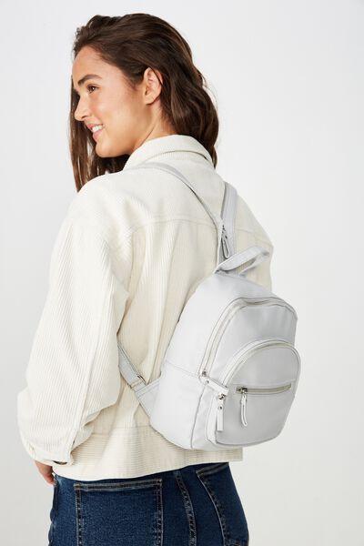 Zip It Backpack, LIGHT GREY