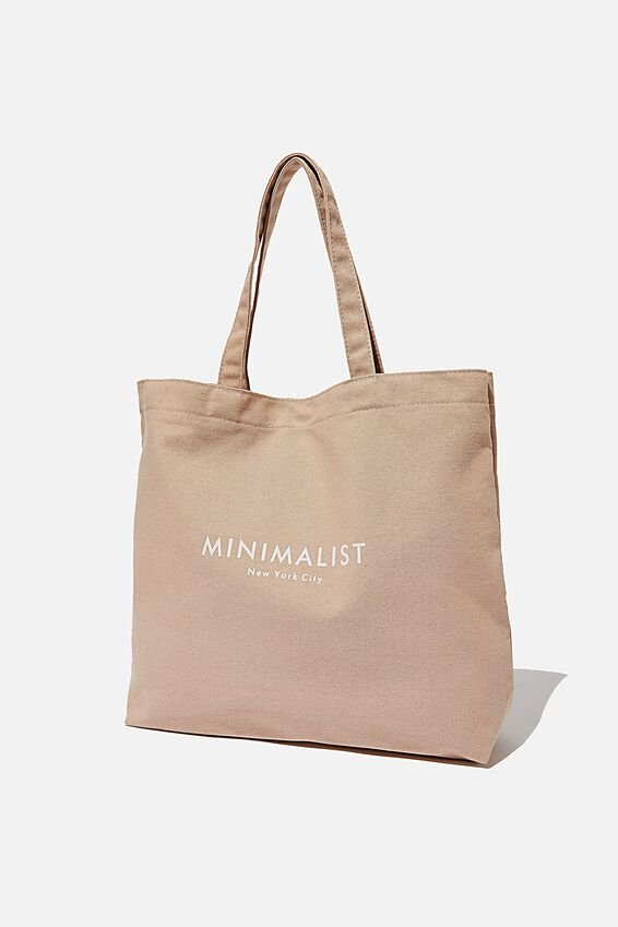 Minimalist Washed Tote, BLUSH