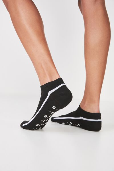Luna Pilates Sock, BLACK