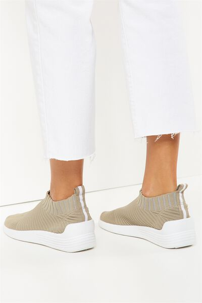 Kara Slip On Trainer, PALE KHAKI
