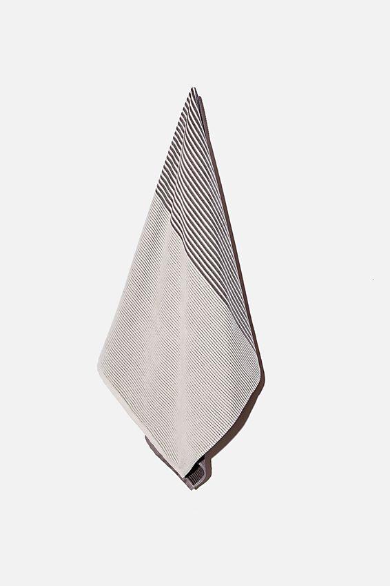 Bondi Rectangle Towel, BLACK COLOUR BLOCK