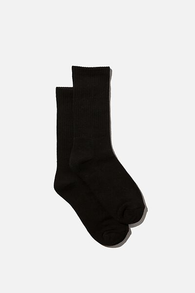 Club House Crew Sock, SOLID BLACK