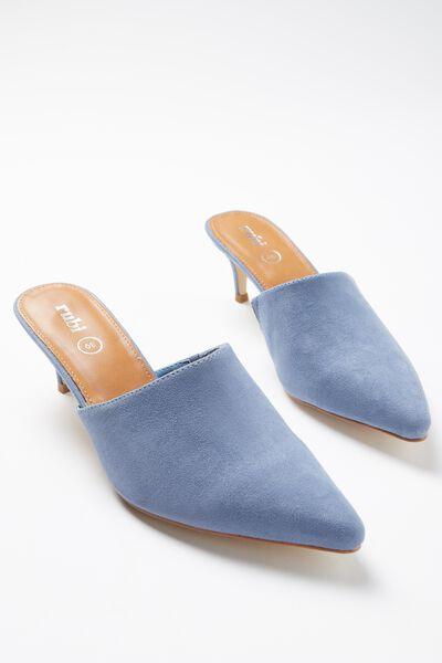 Milan Kitten Mule Heel, MOONLIGHT BLUE