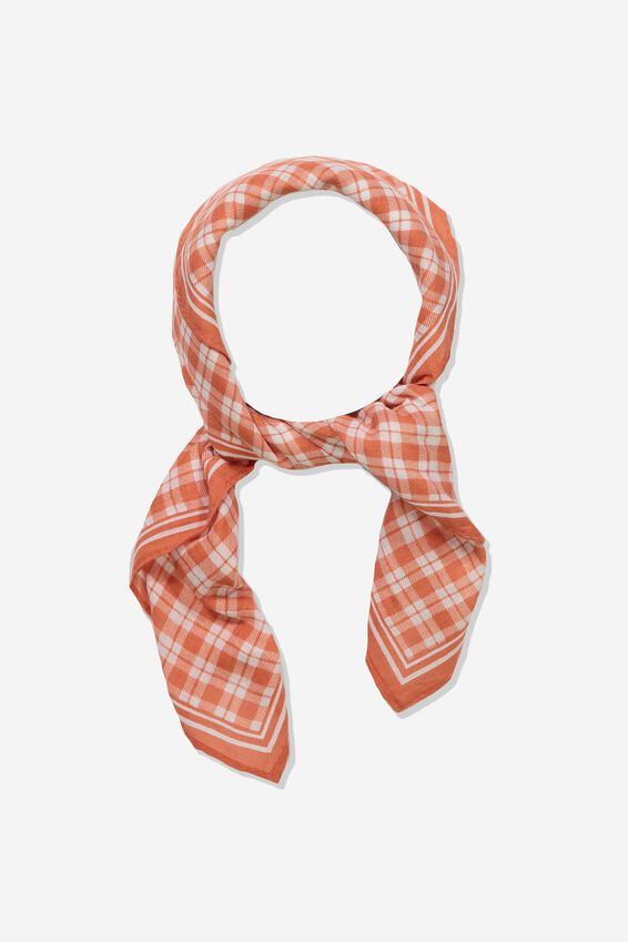 Soho Cotton Scarf, SOFT RED GINGHAM