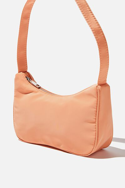 Nylon Underarm Bag, SUMMER TANGERINE