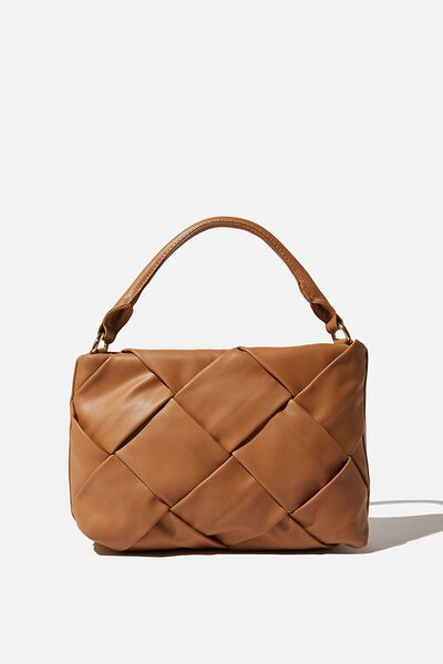 Heidi Quilted Bag, TAN