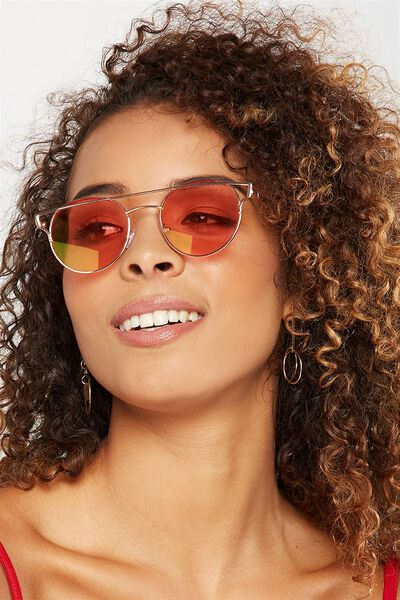 Gracie Top Bar Sunglasses, ROSE GOLD