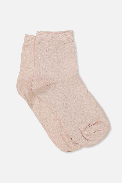 Dorothy Sparkle Sock, BLUSH SPARKLE