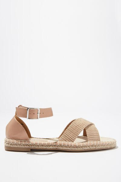 Annie Crossover Espadrille, TAUPE/TAUPE RAFFIA