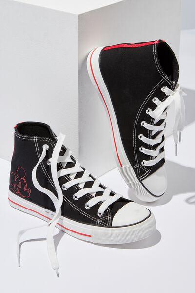 Mickey High Top Sneaker, BLACK MICKEY LCN