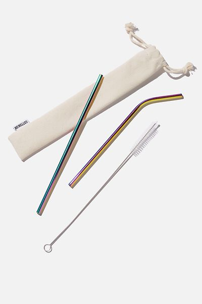 Metal Straw, MULTI/ RAINBOW