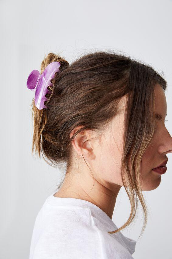 Morgan Hair Claw, PURPLE MARBLE