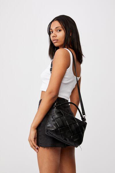 Heidi Quilted Bag, BLACK