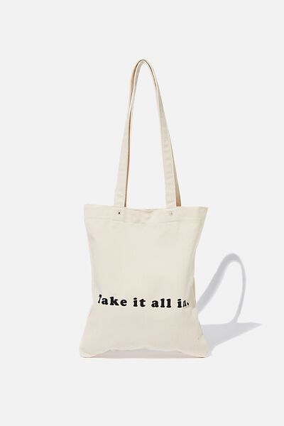 Take It All In Tote, NATURAL