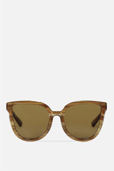 Amelia Cateye Sunglasses, MILKY LATTE