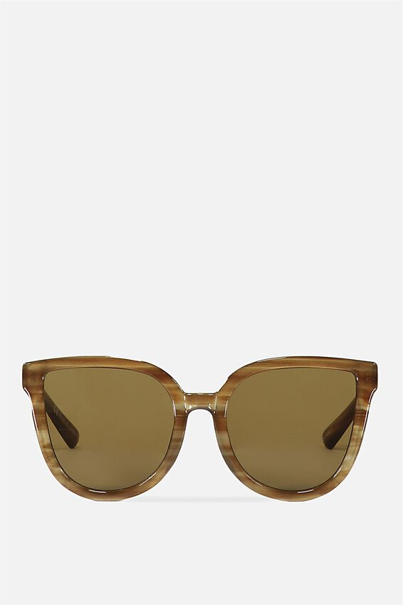 Amelia Cateye Sunglasses, MILKY LATTE