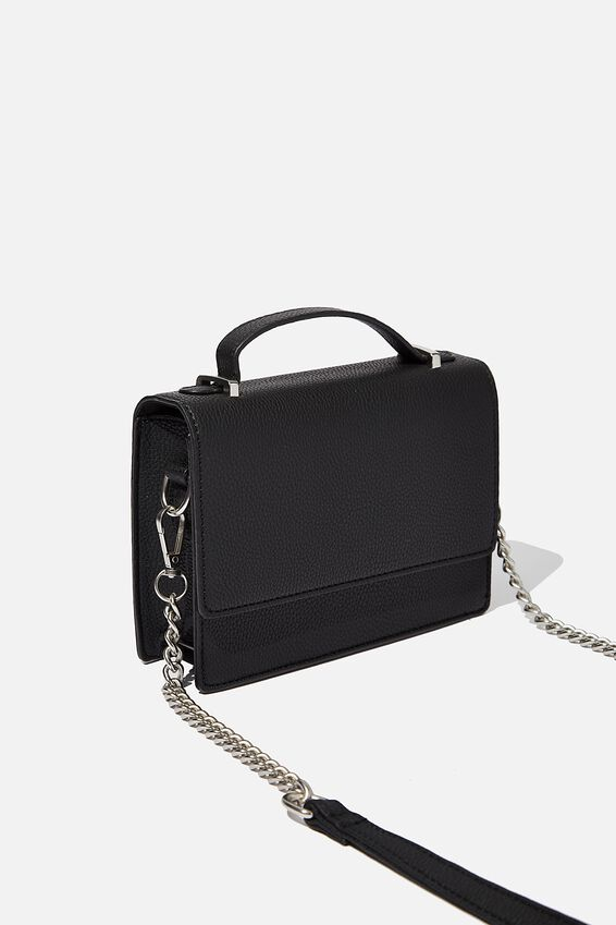 Aria Chain Strap Cross Body Bag, BLACK