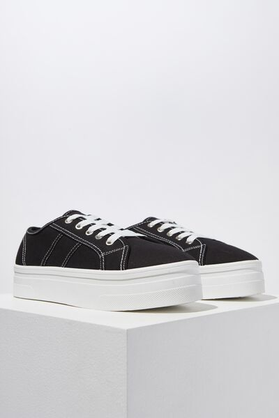 Willow Platform Sneaker, BLACK