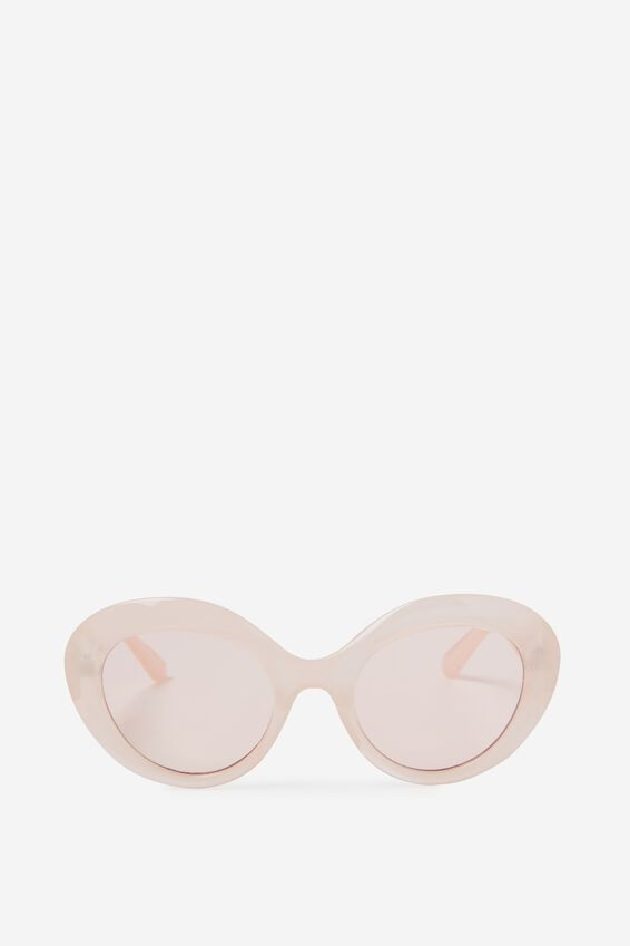 Paris Oval Cat Eye Sunglasses, MILKY PINK