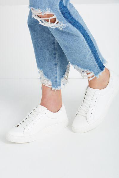 Eloise Sneaker, WHITE PU/WHITE