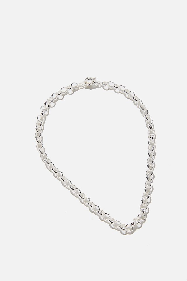 Premium Forever Necklace, STERLING SILVER PLATED CABLE CHAIN