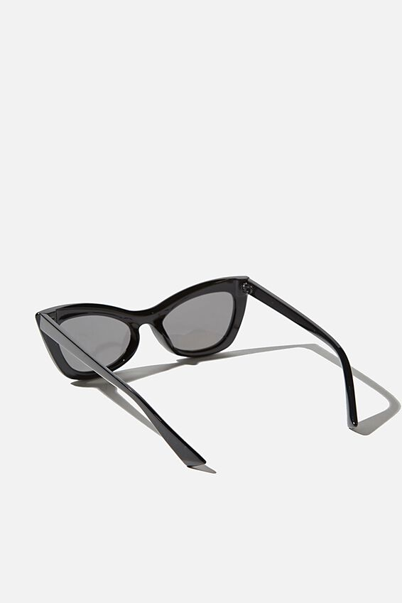 Tara Cateye Sunglass, BLACK