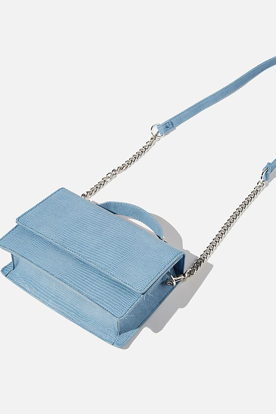 Aria Chain Strap Cross Body Bag, VINTAGE BLUE TEXTURE