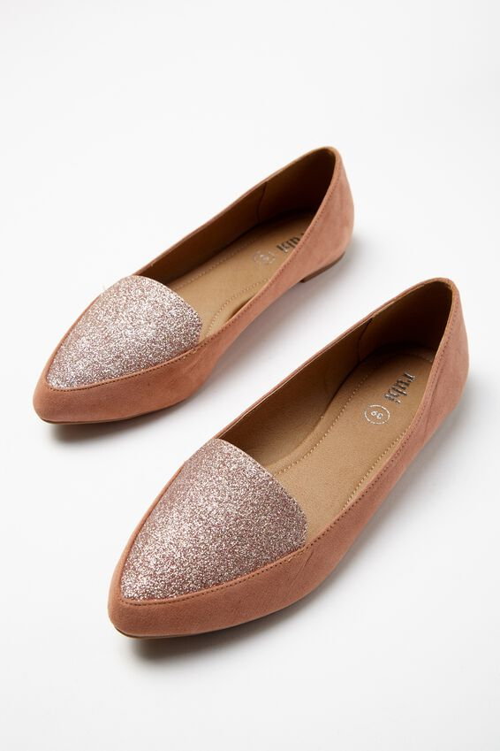 Peta Point Loafer, FUDGE/ROSE GOLD GLITTER