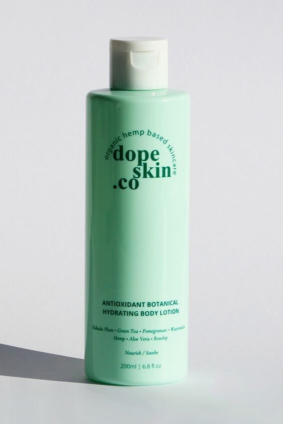 Dope Skin Co Hydrating Antioxidant Body Lotion, NOURISH AND SOOTHE