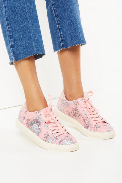 Eloise Sneaker, NUDE FLORAL