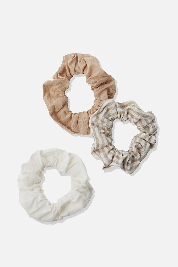 3Pk Scrunchies, NEUTRAL TRIO
