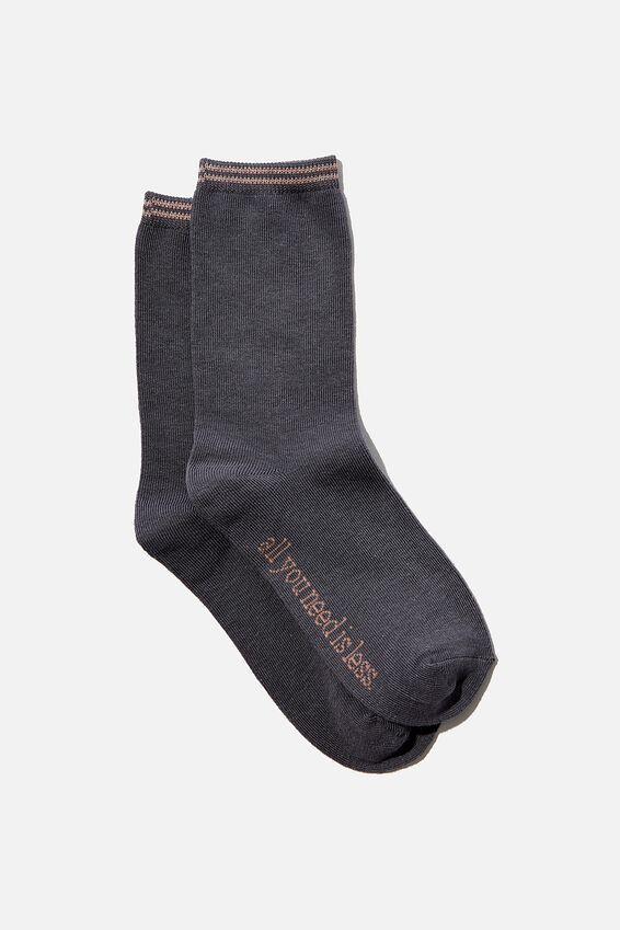 Carrie Crew Sock, GRISAILLE ALL YOU NEED IS LESS