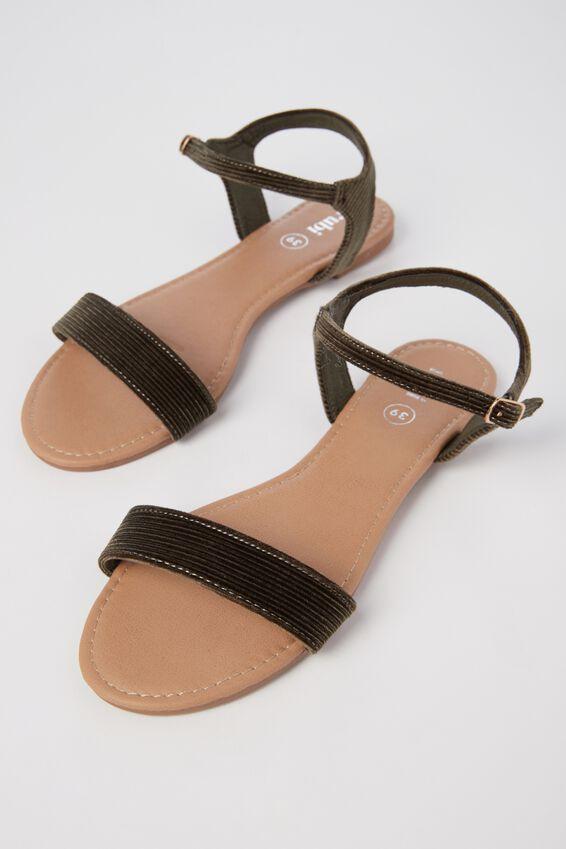 Everyday Thin Strap Sandal, KHAKI CORD