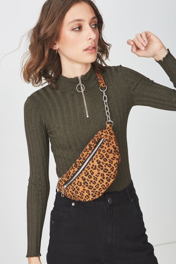 Britt Belt Bag, LEOPARD MICRO
