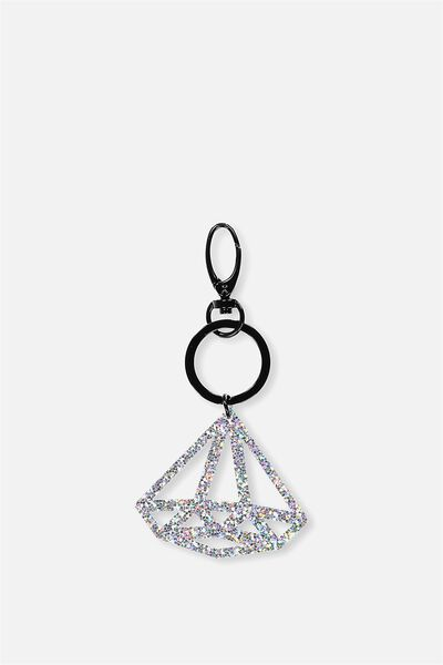 Diamond Bag Charm, HOLOGRAPHIC GLITTER