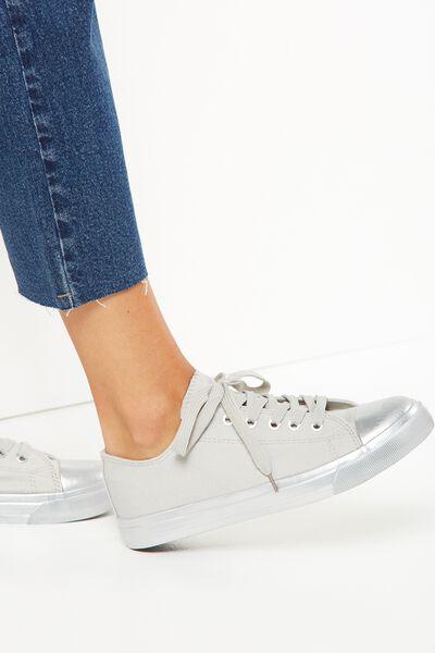 Jodi Low Rise Sneaker 1, METALLIC OUTSOLE