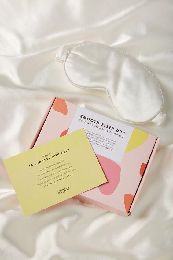 Personalized Satin Eyemask & Pillow Slip Set, WHITE
