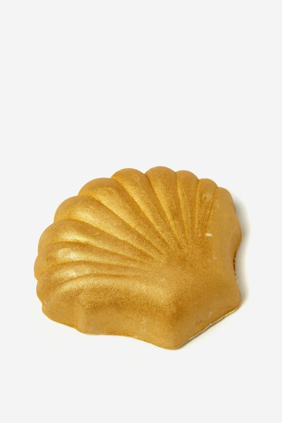Bath Fizzer, GOLD SHIMMER SHELL