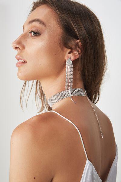 Gleam Bling & Glow Earring, SILVER