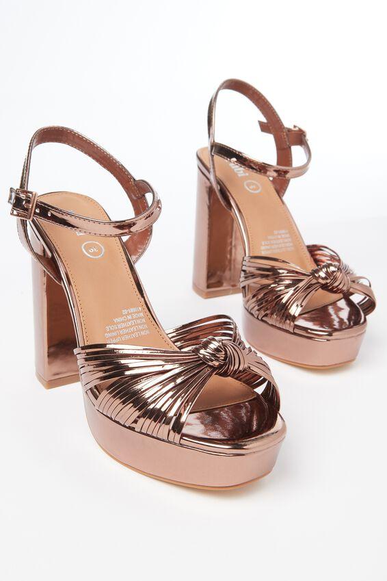 Rubi Shoes Bellini Platform Heels in Bronze