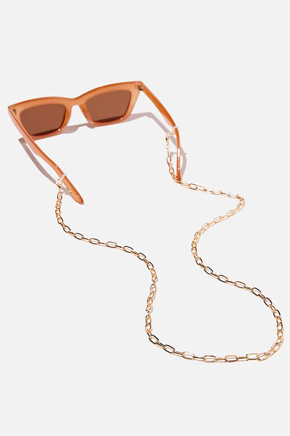 Gigi Glasses Chain, GOLD OPEN LINK