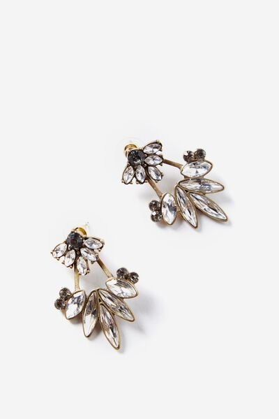 Sophisticated Jewel Earring, NAVY