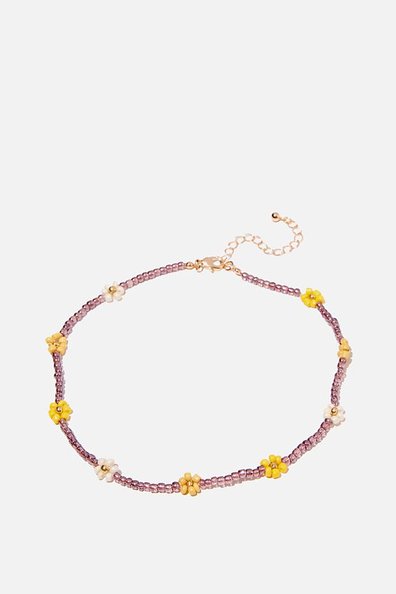 Holiday Beaded Choker, DAISY NEUTRAL