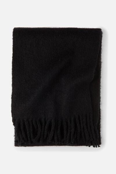 Lulu Tassel Scarf, BLACK