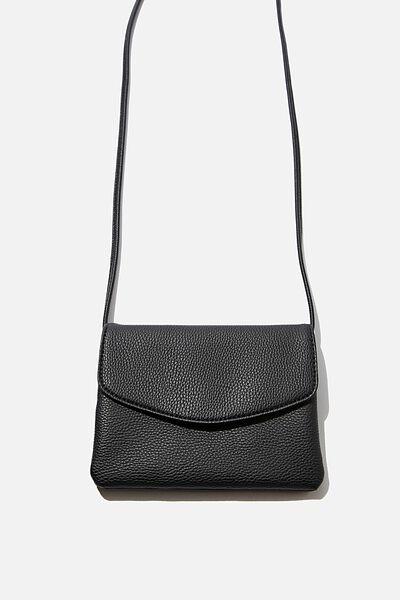 Mikaela Cross Body Bag, BLACK