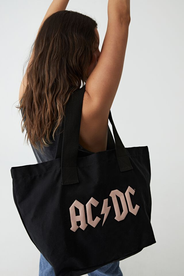 Everyday Canvas Tote, LCN PER ACDC LOGO