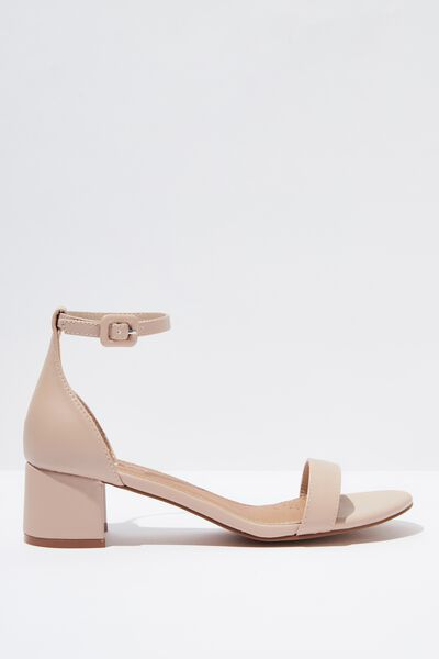 Lizzie Low Block Heel, PALE TAUPE