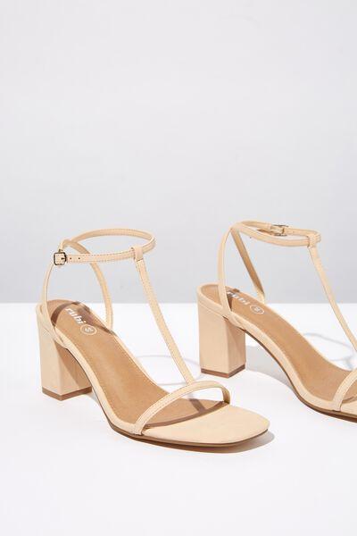 Mila Double Strap Heel, NEUTRAL