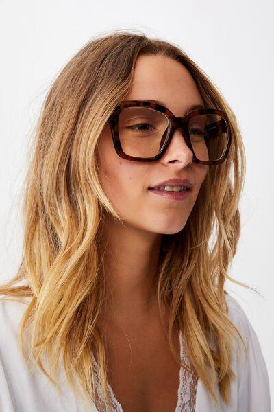 Emma Blue Light Blocking Glasses, TORT