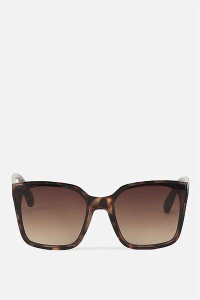 Rio D Frame Sunglasses, TORT/BROWN GRAD